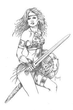 Woman Warrior coloring #5, Download drawings