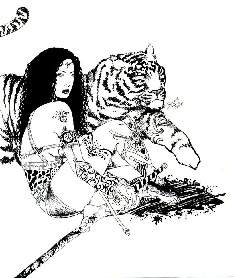 Woman Warrior coloring #13, Download drawings