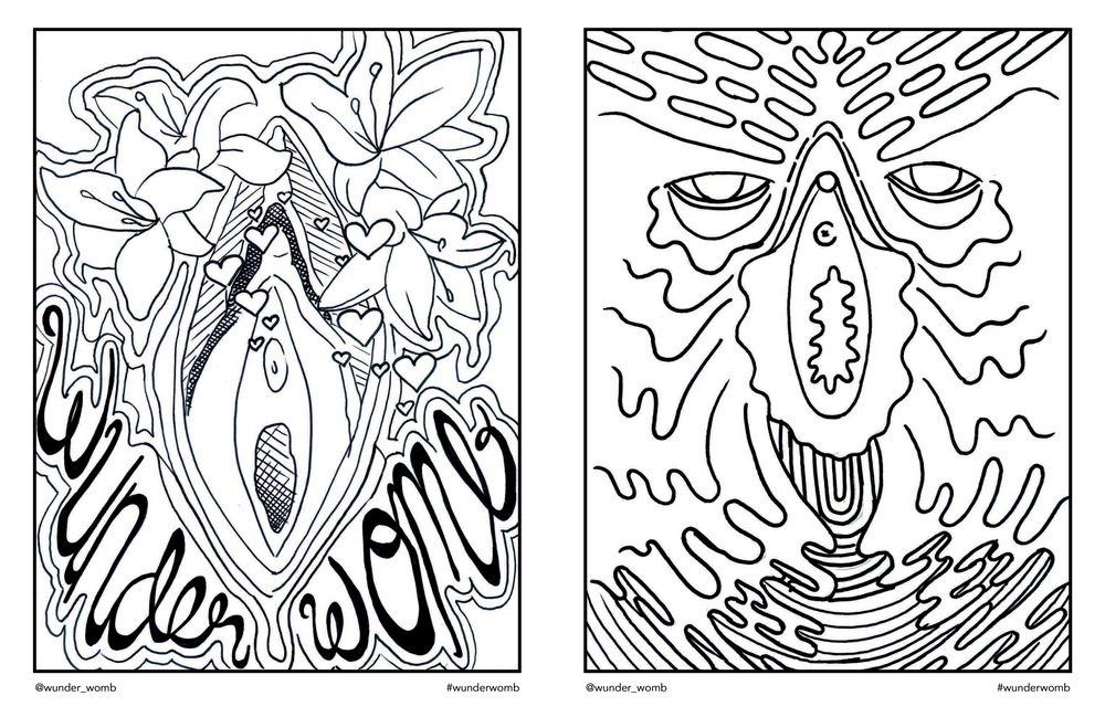 Womb coloring #3, Download drawings