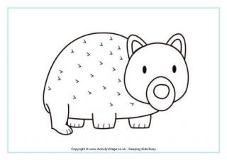 Wombat coloring #11, Download drawings