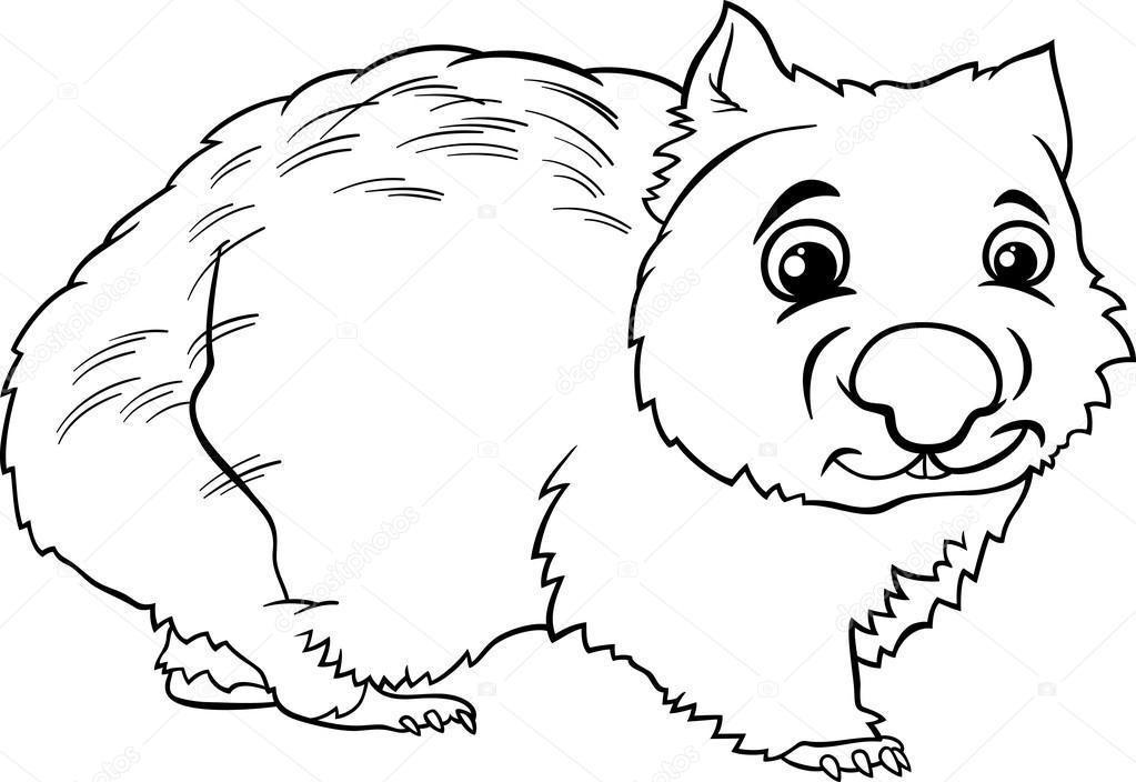 Wombat coloring #16, Download drawings