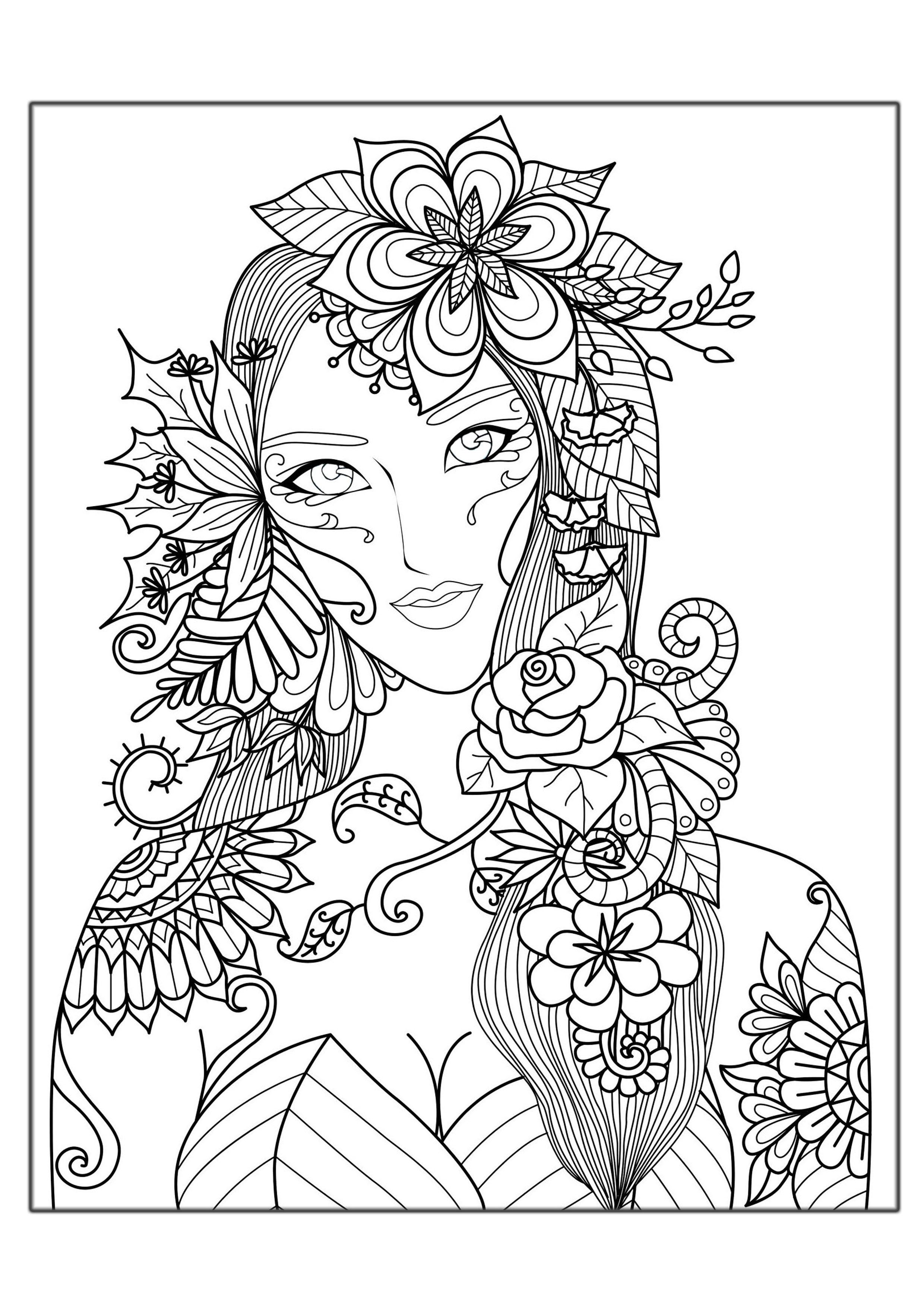 Women coloring #4, Download drawings