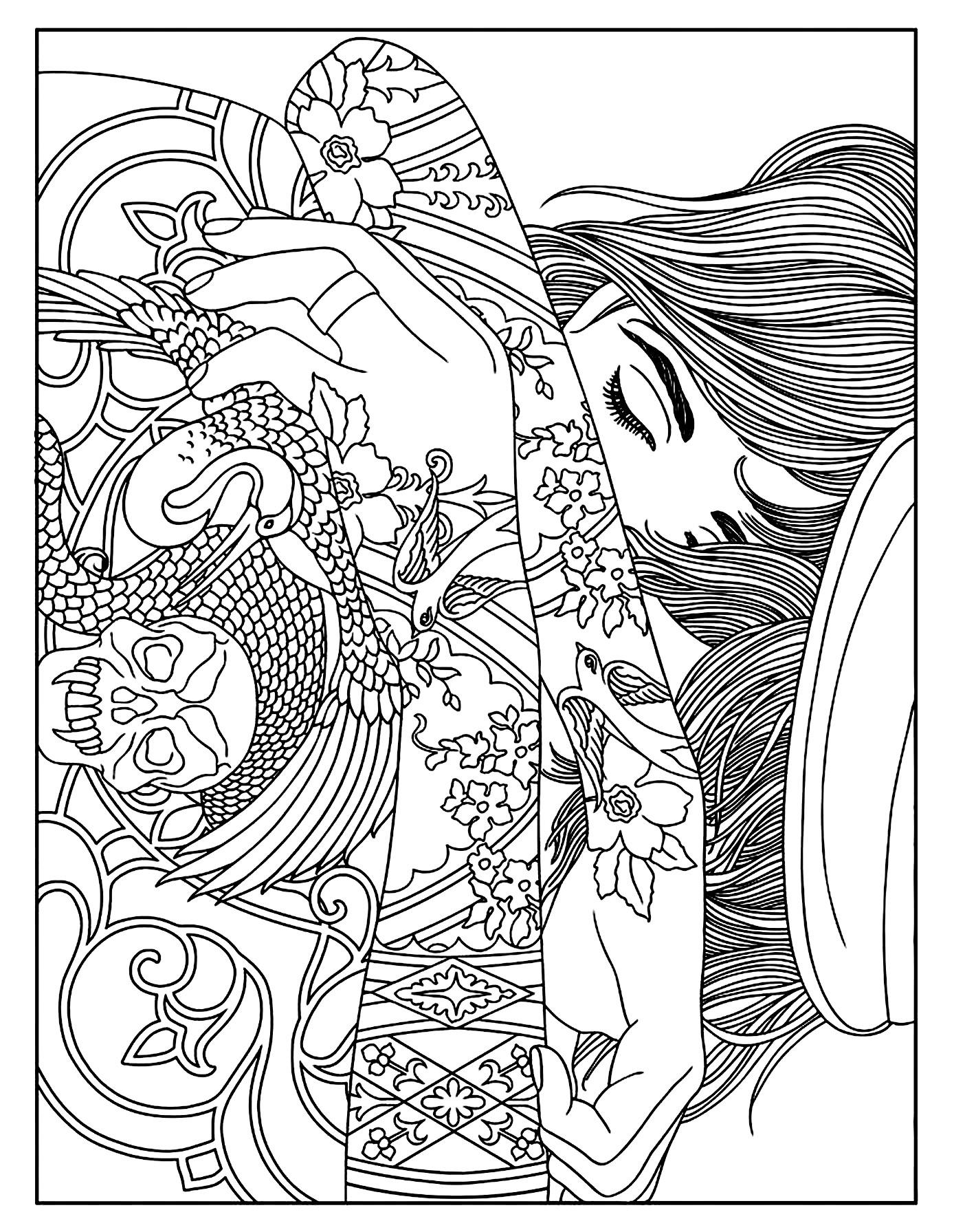 Women coloring #7, Download drawings