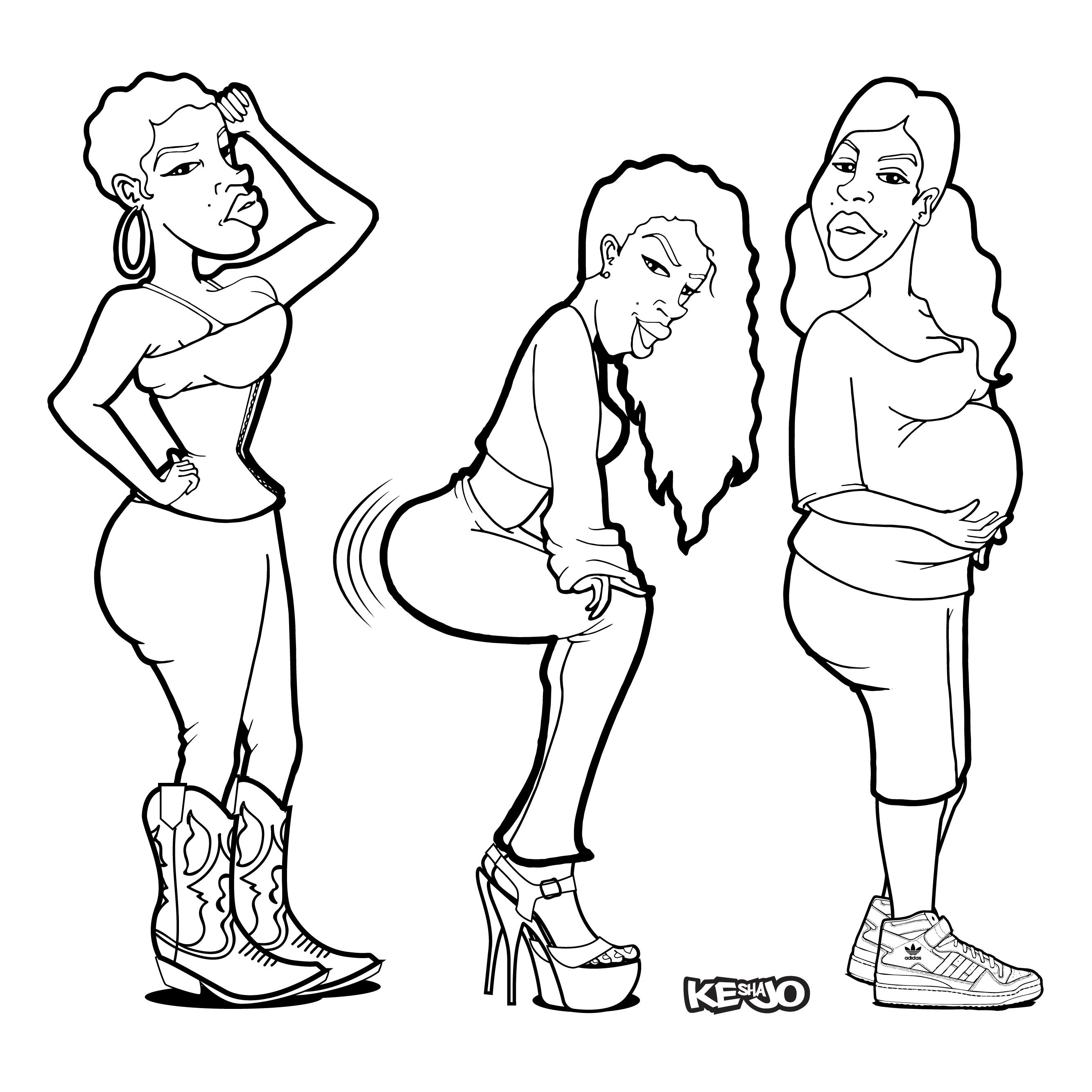 Women coloring #9, Download drawings