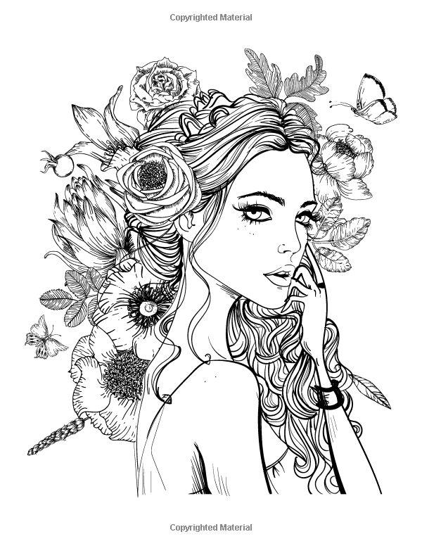 Women coloring #5, Download drawings