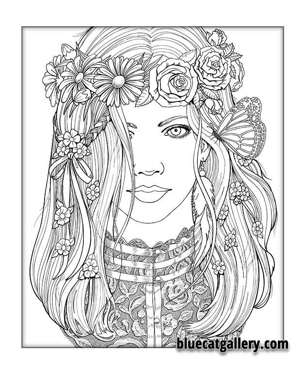 Women coloring #3, Download drawings