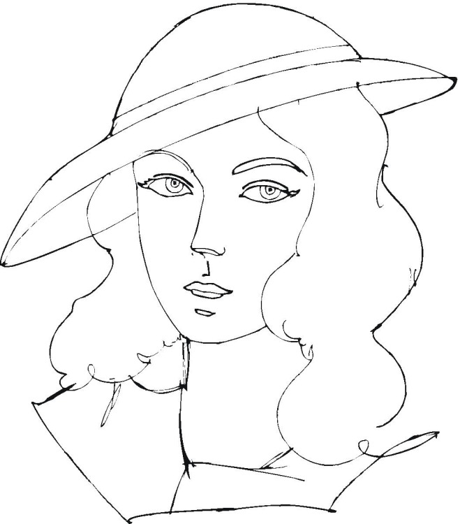 Women coloring #20, Download drawings