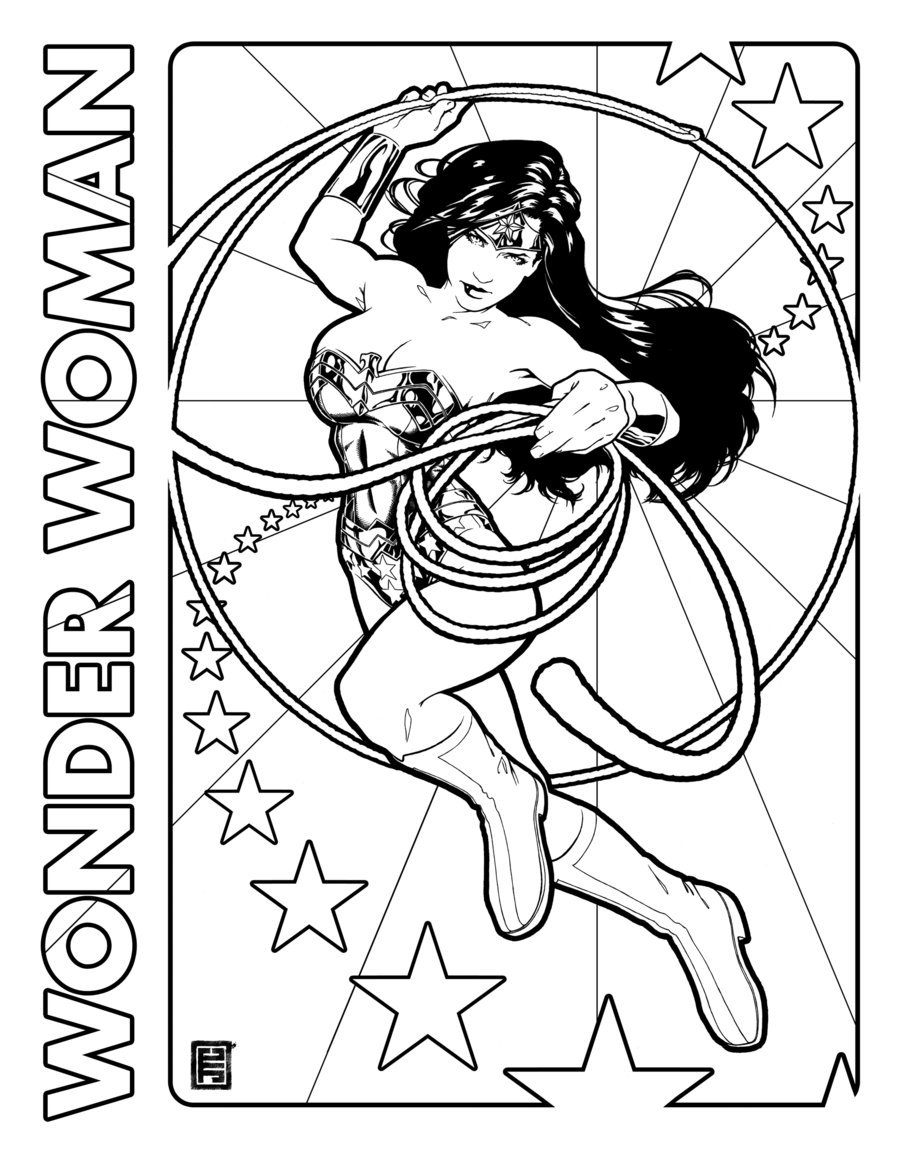 Wonder Woman coloring #6, Download drawings