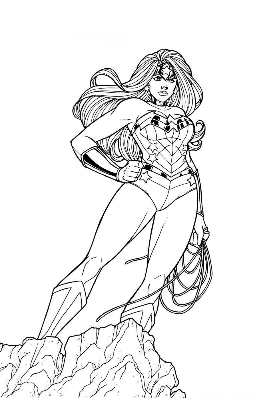 Wonder Woman coloring #1, Download drawings