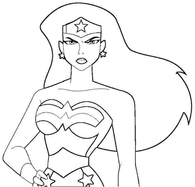 Wonder Woman coloring #5, Download drawings