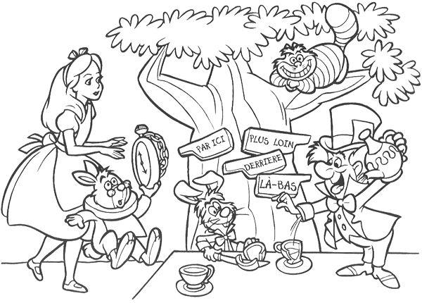 Wonderland coloring #2, Download drawings