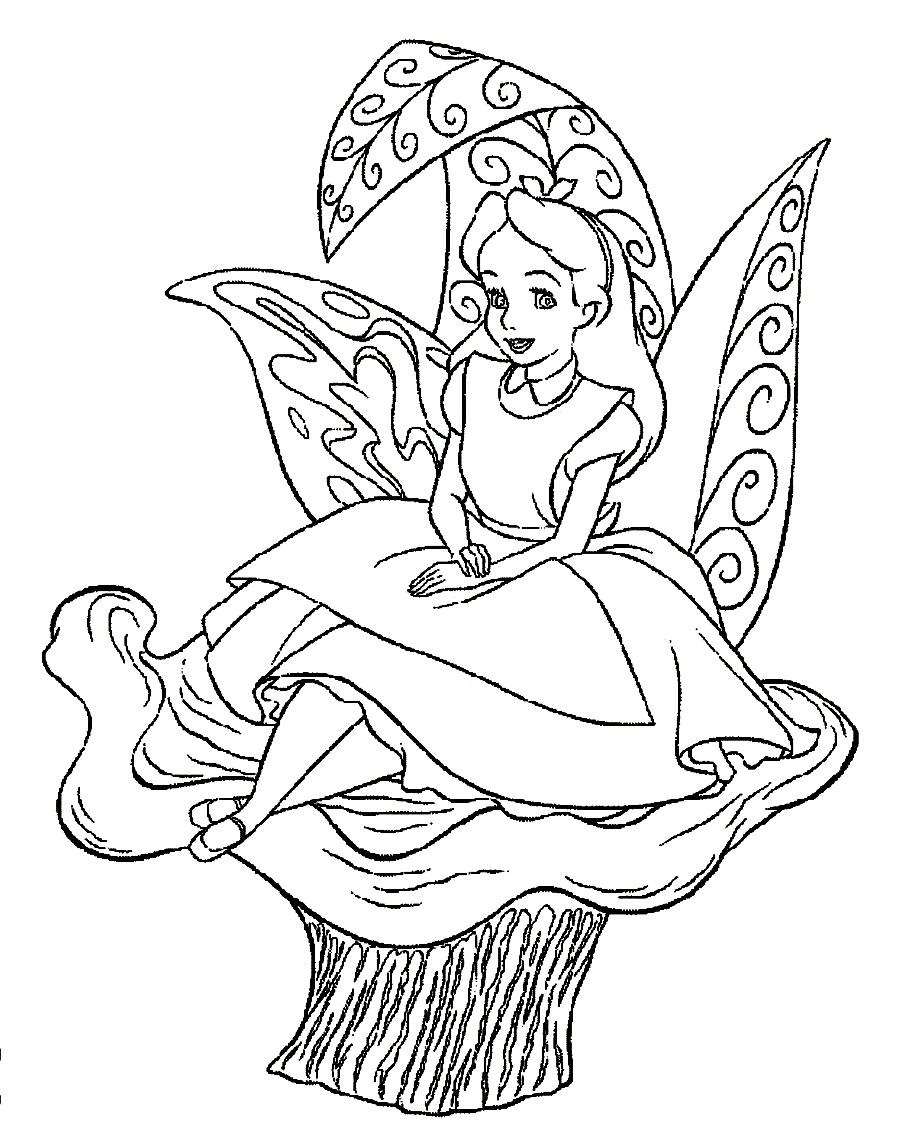 Alice (Alice In Wonderland) coloring #2, Download drawings