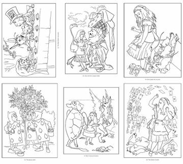 Wonderland coloring #11, Download drawings