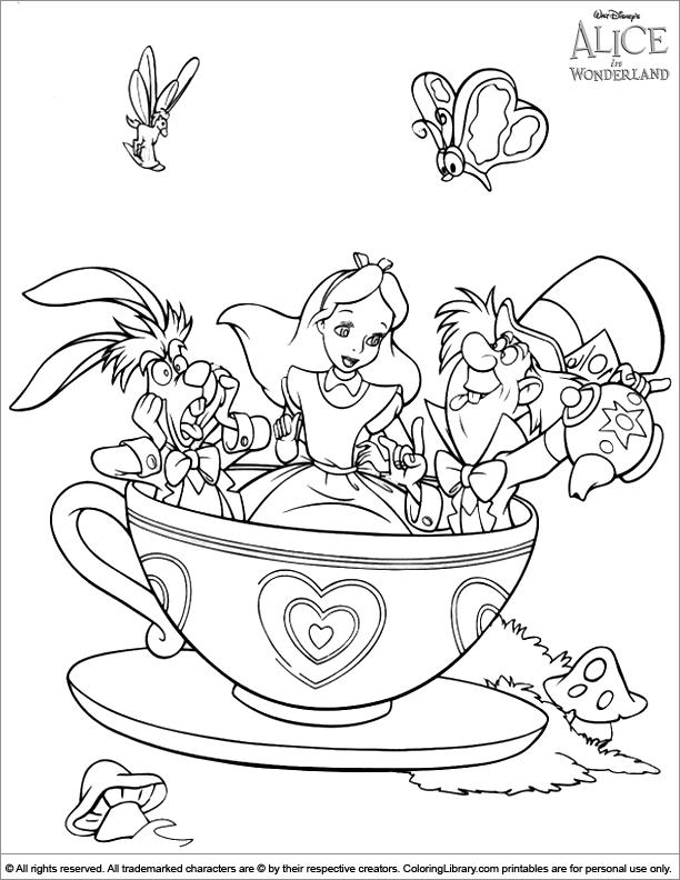 Wonderland coloring #16, Download drawings