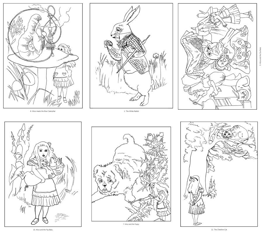 Wonderland coloring #18, Download drawings