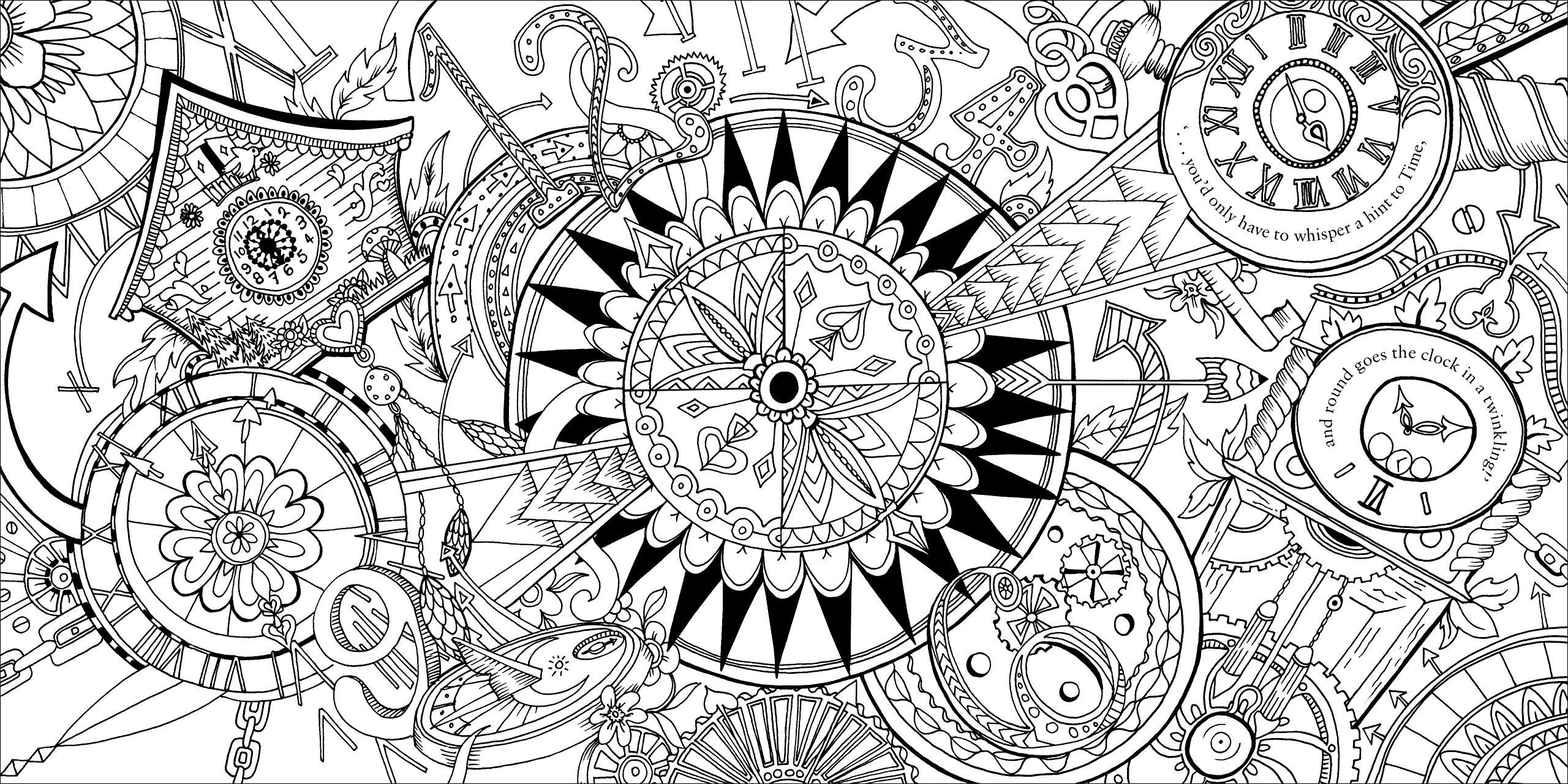 Wonderland coloring #14, Download drawings