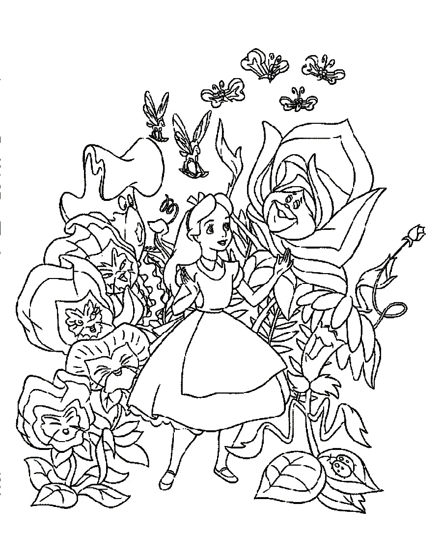 Wonderland coloring #1, Download drawings