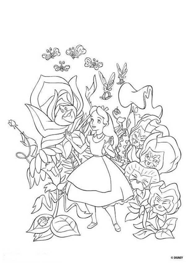 Wonderland coloring #9, Download drawings