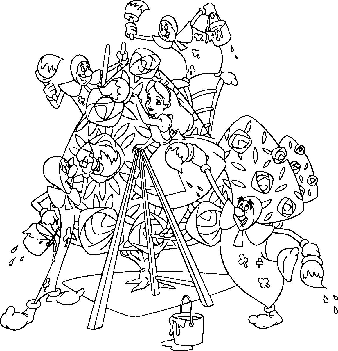 Alice In Wonderland coloring #12, Download drawings