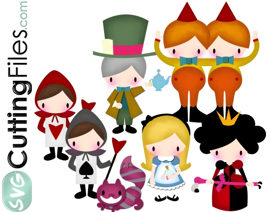 Wonderland svg #17, Download drawings