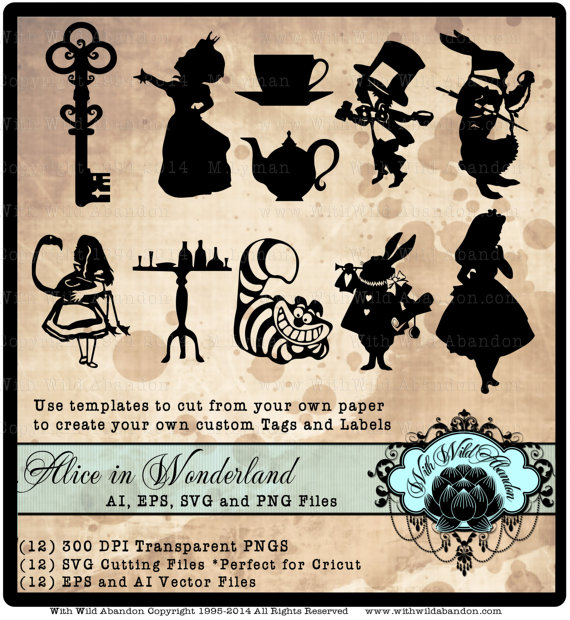 Wonderland svg #2, Download drawings