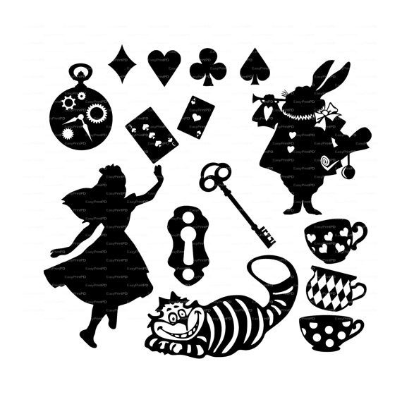 Wonderland svg #16, Download drawings