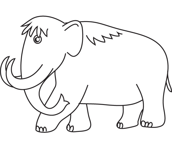 Woolly mammoth coloring download woolly mammoth coloring for Wooly mammoth coloring page