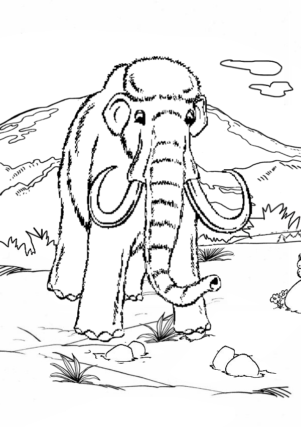 Woolly Mammoth coloring #5, Download drawings