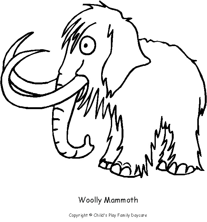 Woolly Mammoth coloring #16, Download drawings