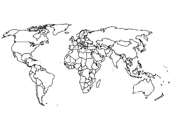 World Map coloring #1, Download drawings