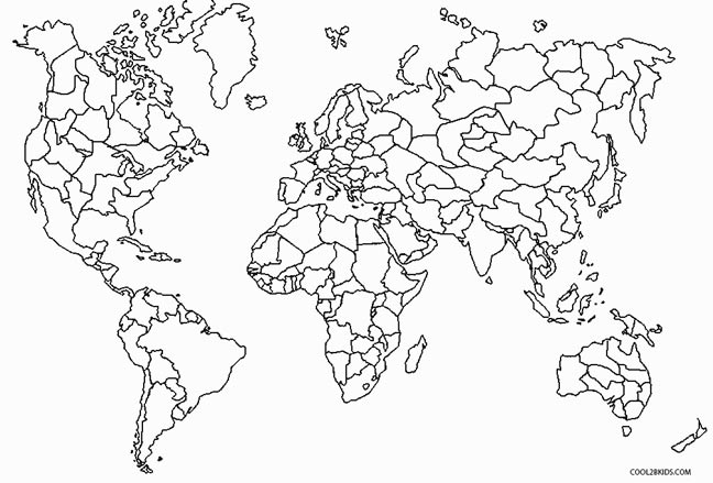 World Map coloring #8, Download drawings