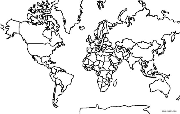 World Map coloring #7, Download drawings