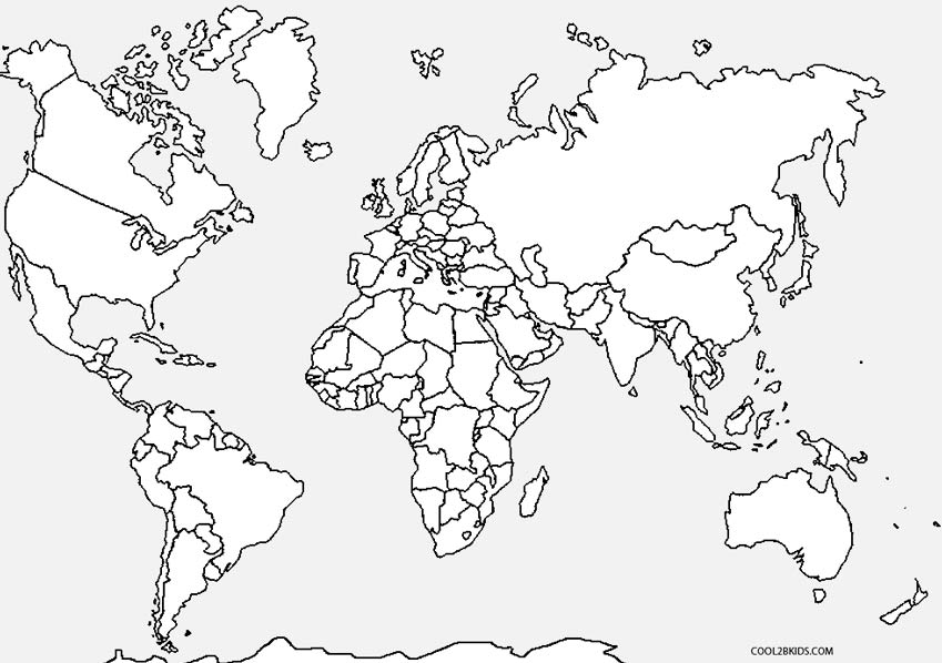World Map coloring #17, Download drawings