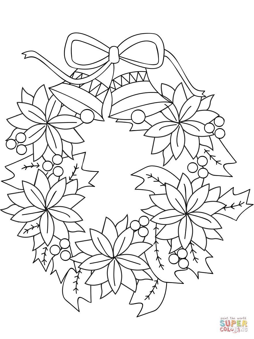 Wreath coloring #12, Download drawings