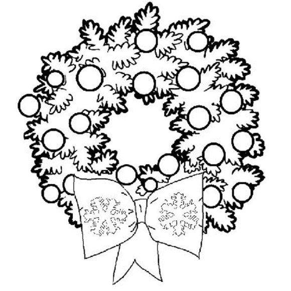 Wreath coloring #3, Download drawings