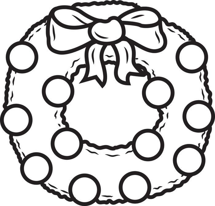 Wreath coloring #10, Download drawings