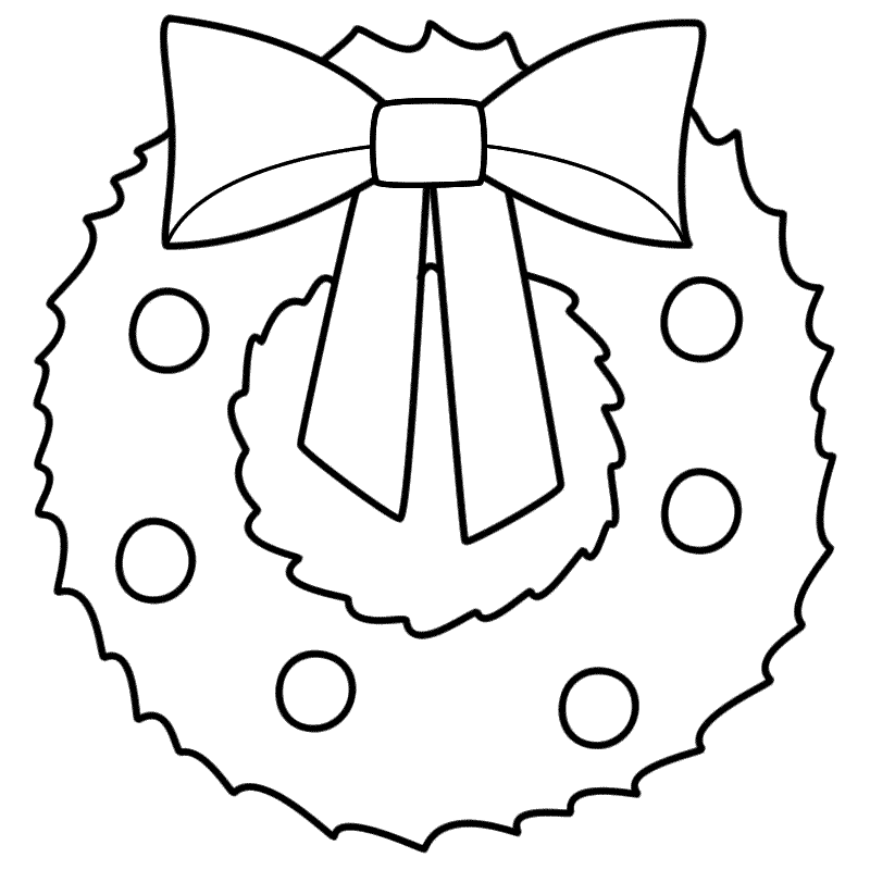 Wreath coloring #2, Download drawings
