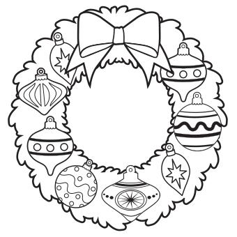 Wreath coloring #1, Download drawings