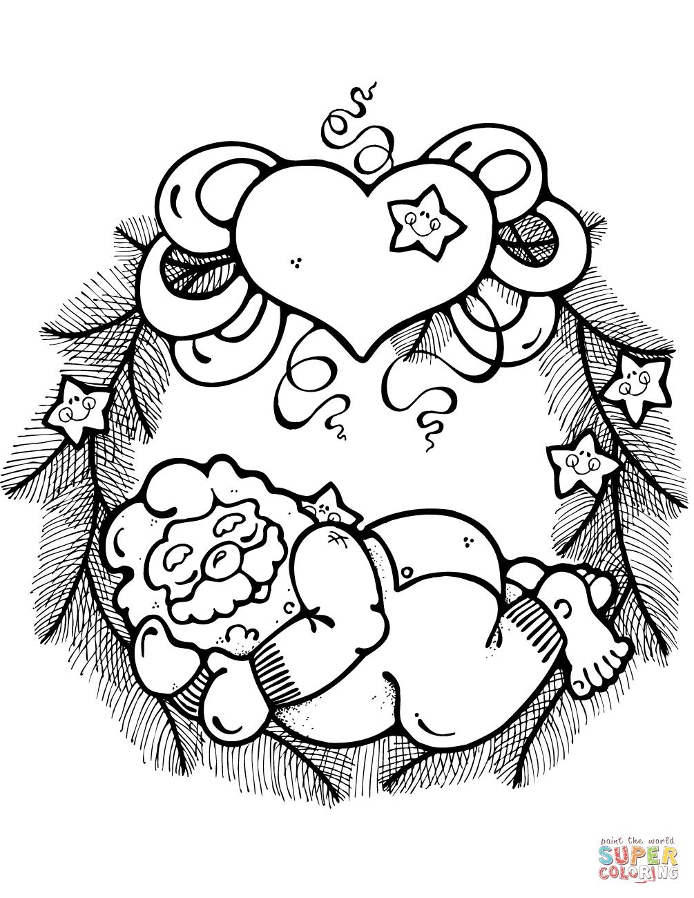 Wreath coloring #20, Download drawings