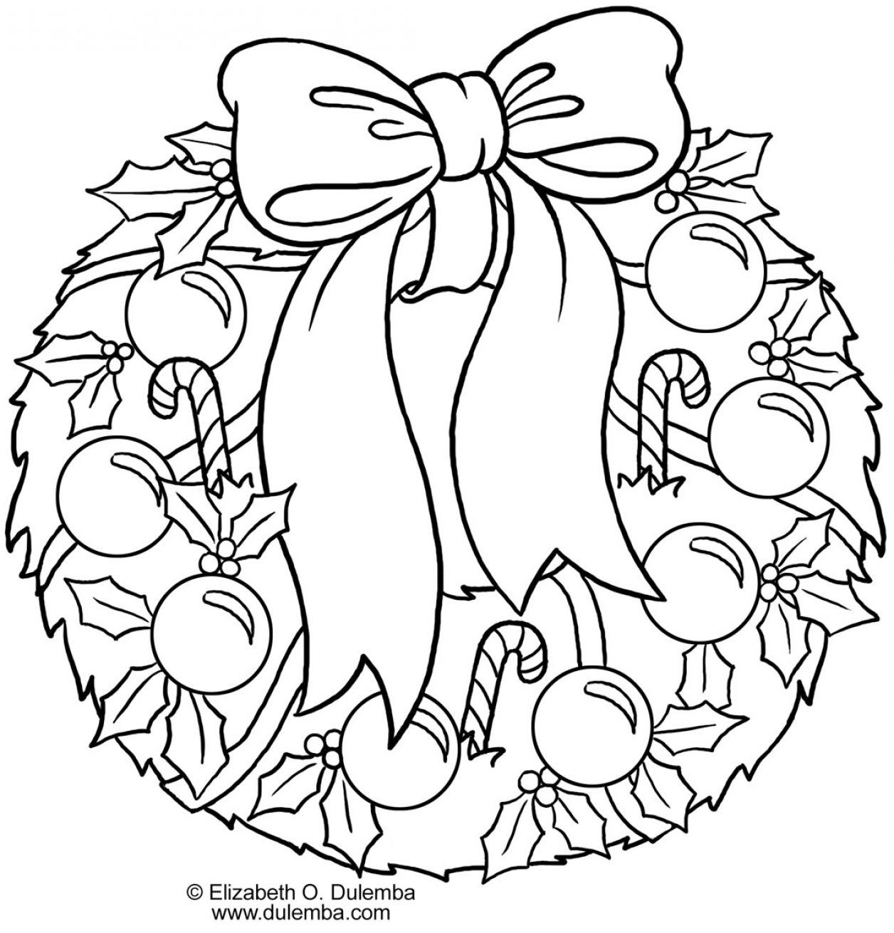 Wreath coloring #6, Download drawings