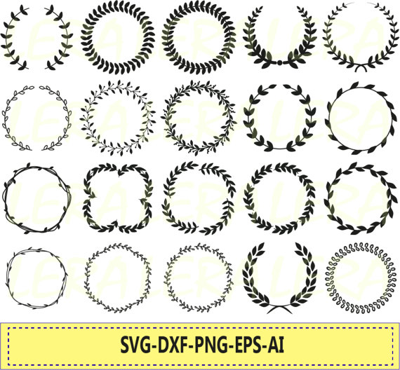 Wreath svg #7, Download drawings