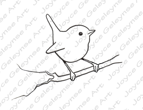 Wren clipart #7, Download drawings