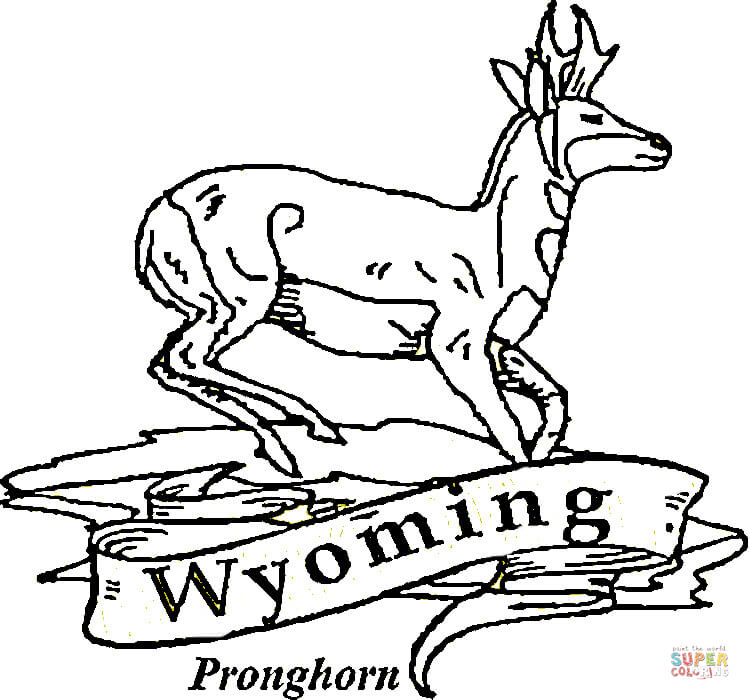 Wyoming coloring #17, Download drawings