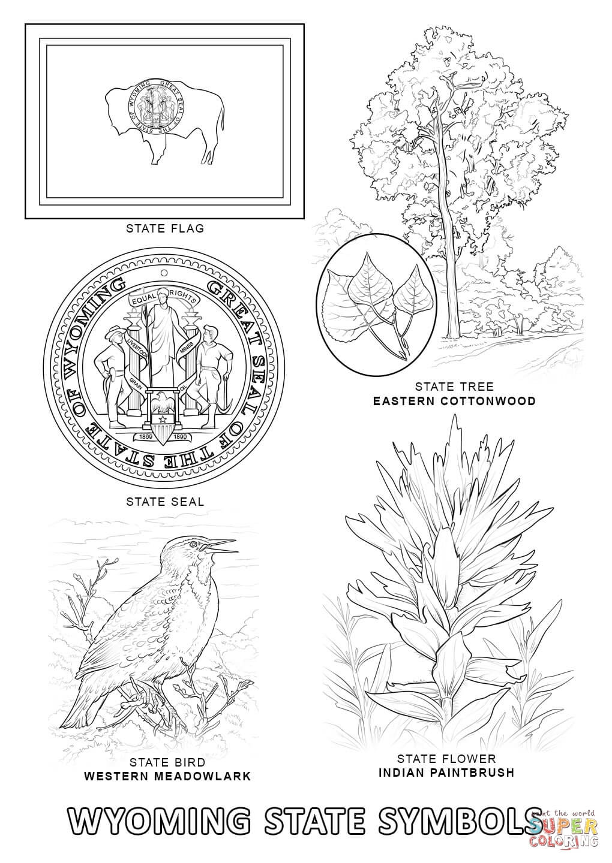 Wyoming coloring #20, Download drawings