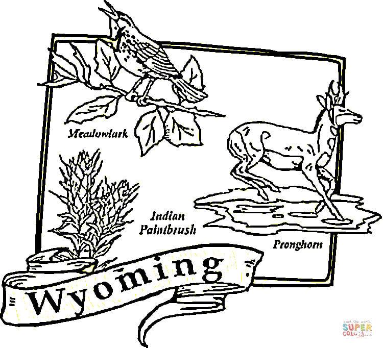 Wyoming coloring #8, Download drawings