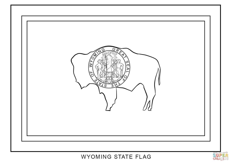Wyoming coloring #5, Download drawings
