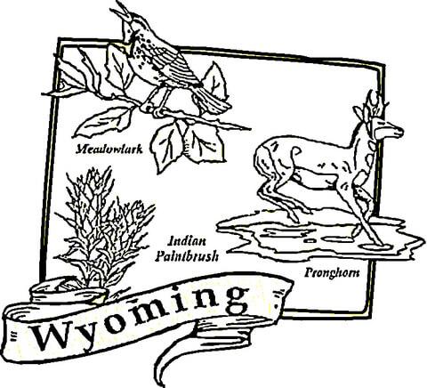 Wyoming coloring #9, Download drawings