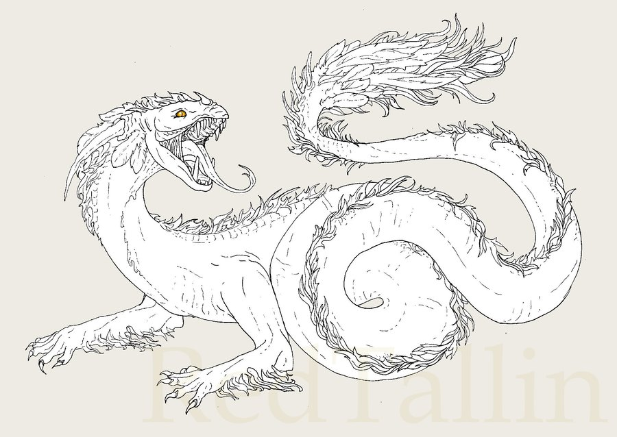 Wyrm coloring #13