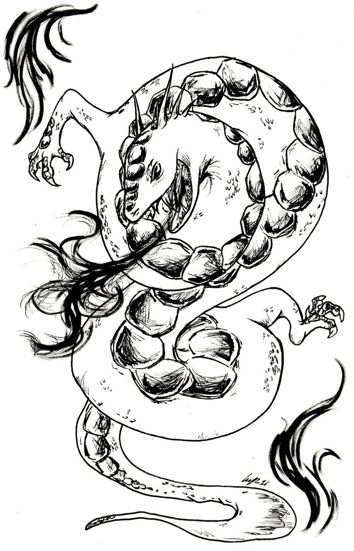 Wyrm coloring #15