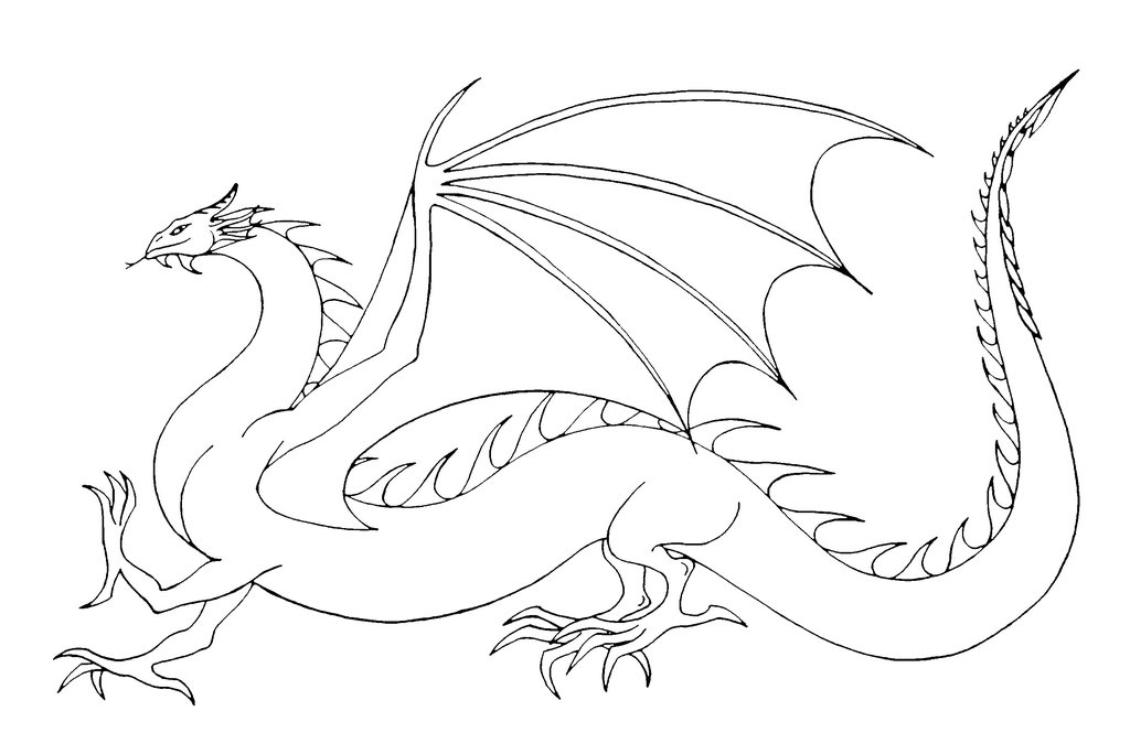 Wyrm coloring #3